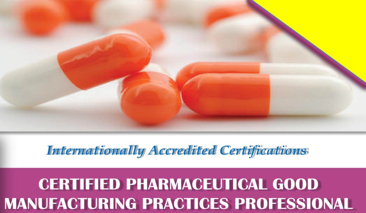 Online Certified Pharmaceutical GMP Professional ( CPGP)