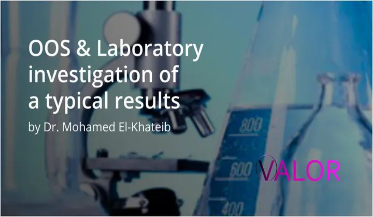 Session OOS & Laboratory Investigation of Atypical Results